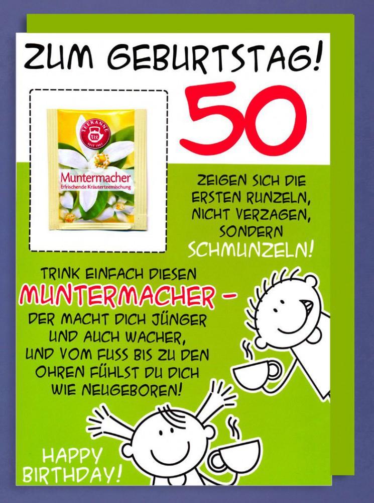 Riesen Grußkarte 50 Geburtstag Humor AvanFriends XXL
